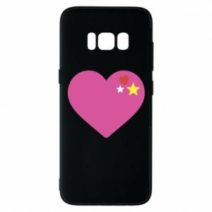 Phone case for Samsung S8 Pink heart