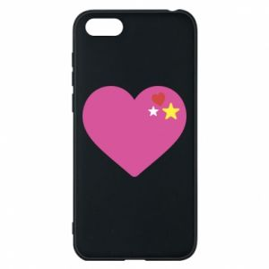 Phone case for Huawei Y5 2018 Pink heart