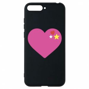 Phone case for Huawei Y6 2018 Pink heart