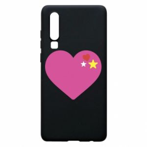 Phone case for Huawei P30 Pink heart