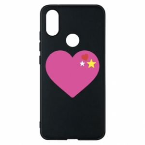 Phone case for Xiaomi Mi A2 Pink heart