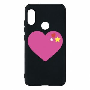 Phone case for Mi A2 Lite Pink heart