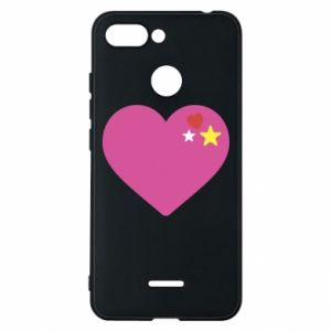 Phone case for Xiaomi Redmi 6 Pink heart