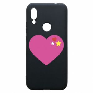 Phone case for Xiaomi Redmi 7 Pink heart