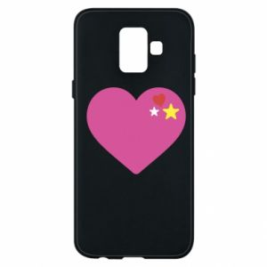 Phone case for Samsung A6 2018 Pink heart