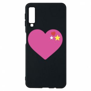 Phone case for Samsung A7 2018 Pink heart