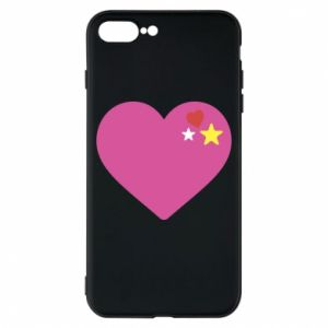 Phone case for iPhone 8 Plus Pink heart