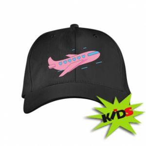 Dziecięca czapeczka z daszkiem Różowy samolot