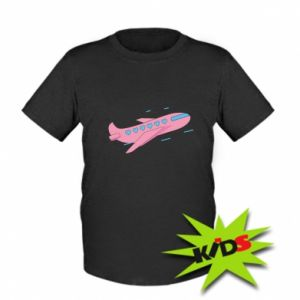 Dziecięcy T-shirt Różowy samolot