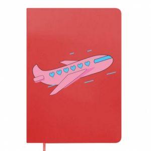 Notes Różowy samolot
