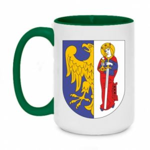 Two-toned mug 450ml Ruda Slaska arms