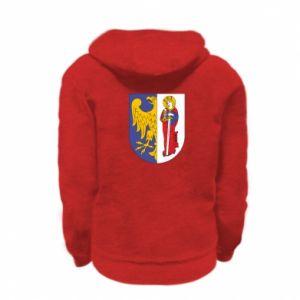Kid's zipped hoodie % print% Ruda Slaska arms
