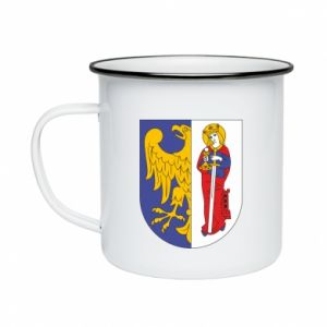 Enameled mug Ruda Slaska arms