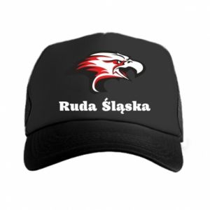 Czapka trucker Ruda Śląska Orzeł trójkolorowy
