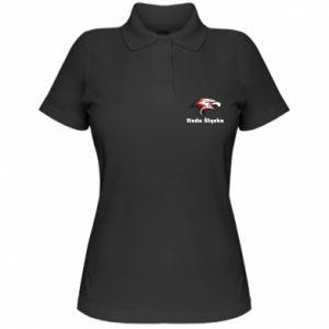 Koszulka polo damska Ruda Śląska Orzeł trójkolorowy