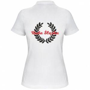 Damska koszulka polo Ruda Śląska w liście