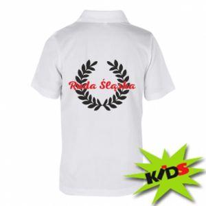 Dziecięca koszulka polo Ruda Śląska w liście