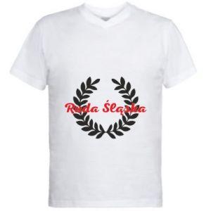 Męska koszulka V-neck Ruda Śląska w liście