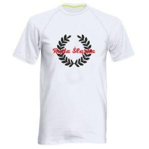 Męska koszulka sportowa Ruda Śląska w liście