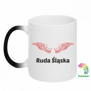 Kubek-kameleon Ruda Śląska ze skrzydłami