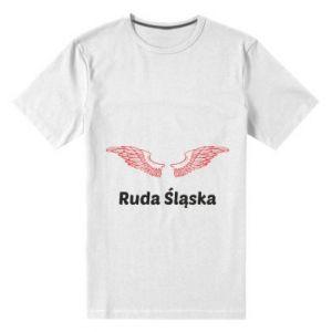 Męska premium koszulka Ruda Śląska ze skrzydłami