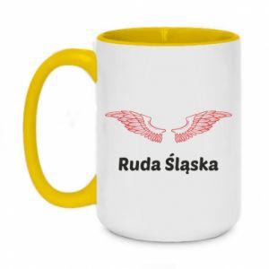 Kubek dwukolorowy 450ml Ruda Śląska ze skrzydłami