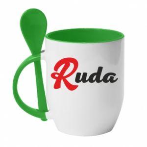 Kubek z ceramiczną łyżeczką Ruda