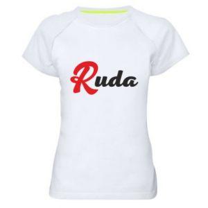 Damska koszulka sportowa Ruda