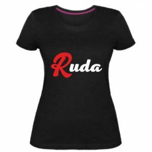 Damska premium koszulka Ruda