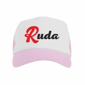 Czapka trucker dziecięca Ruda