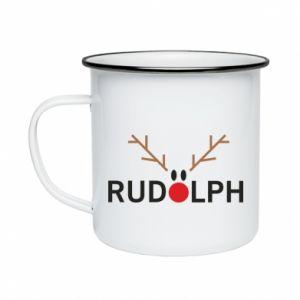 Enameled mug Rudolph