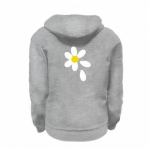 Kid's zipped hoodie % print% Chamomile