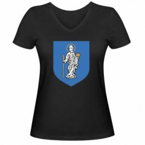Damska koszulka V-neck Rybnik - PrintSalon