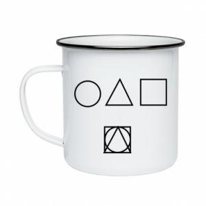 Enameled mug Figures