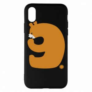 Phone case for iPhone X/Xs Figure bear for 9 years
