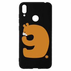 Etui na Huawei Y7 2019 Rysunek niedźwiedź przez 9 lat