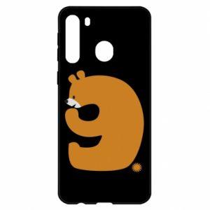 Etui na Samsung A21 Rysunek niedźwiedź przez 9 lat