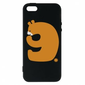 Phone case for iPhone 5/5S/SE Figure bear for 9 years