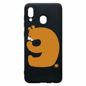 Phone case for Samsung A30 Figure bear for 9 years