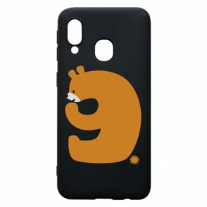 Phone case for Samsung A40 Figure bear for 9 years