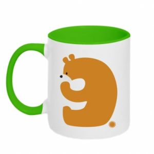 Two-toned mug Figure bear for 9 years