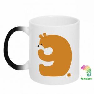 Chameleon mugs Figure bear for 9 years
