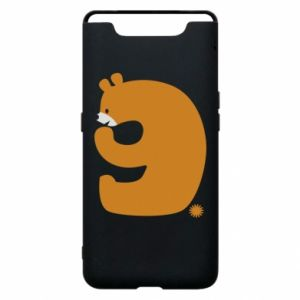 Phone case for Samsung A80 Figure bear for 9 years