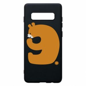 Phone case for Samsung S10+ Figure bear for 9 years