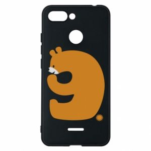 Phone case for Xiaomi Redmi 6 Figure bear for 9 years