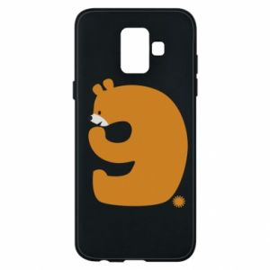 Phone case for Samsung A6 2018 Figure bear for 9 years
