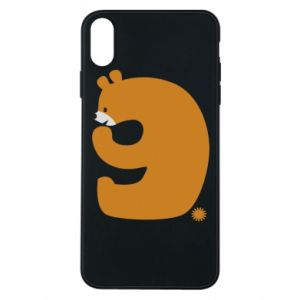 Phone case for iPhone Xs Max Figure bear for 9 years