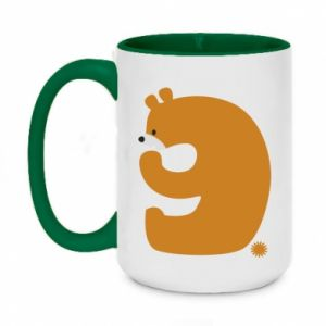 Two-toned mug 450ml Figure bear for 9 years