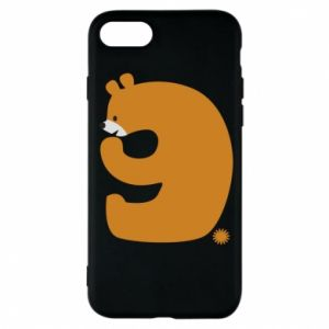 Phone case for iPhone 8 Figure bear for 9 years