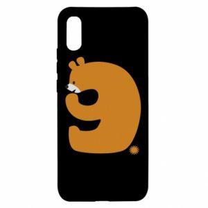 Etui na Xiaomi Redmi 9a Rysunek niedźwiedź przez 9 lat